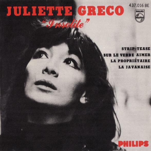 45t 1965. Juliette Gréco, Insolite, Philips