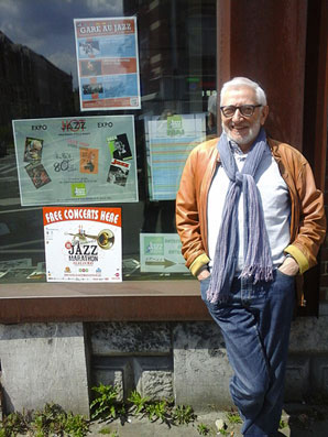 Jean-Marie Haquier devant la Jazz Station © Yves Sportis