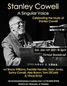Stanley Cowell, a singular voice, Keystone Korner, Baltimore, 16 January 2021