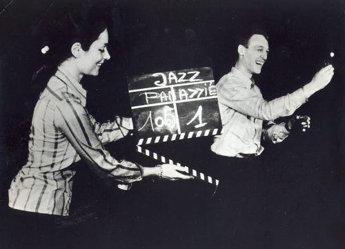 Claudine et Louis Panassié sur le tournage de L'Aventure du jazz © Photo X, Archives Louis Panassié by courtesy