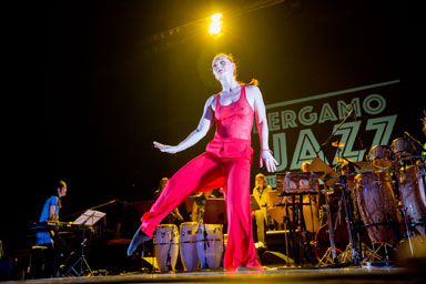 Marilyn Mazur Shamania © foto Gianfranco Rota by courtesy of Bergamo Jazz