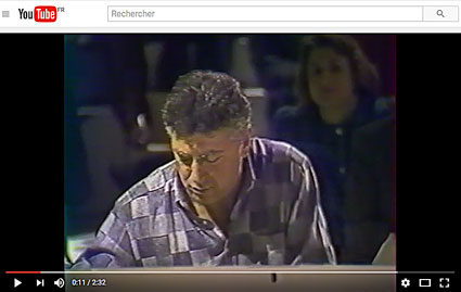 Maurice Vander au Grand Echiquier de Jacques Chancel consacré à Henri Salvador, en 1987, Paris © YouTube