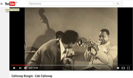 1950, Cab's Club, «Calloway Boogie», Jonah Jones, Cab Calloway, Dave Rivera, Milt Hinton, Panama Francis © YouTube