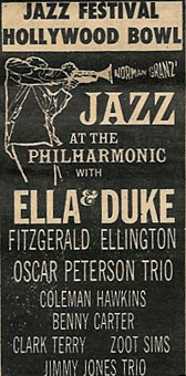 1956. JATP at Hollywood Bowl, Ella & Duke and others