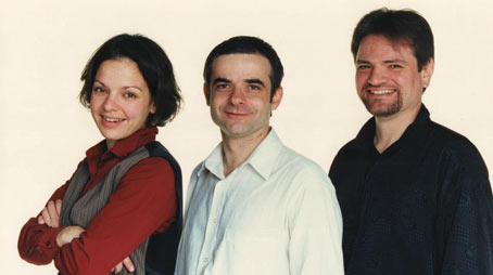 Le trio Julie Saury, Bruno Rousselet, Philippe Milanta © photo x, by courtesy of Julie Saury