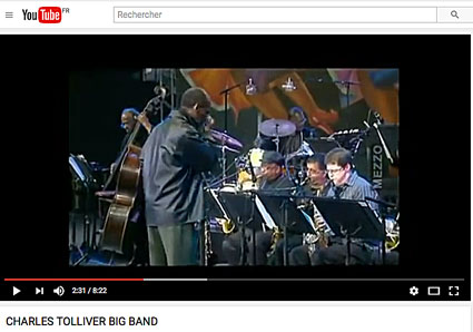 Charles Tolliver Big Band avec, entre autres, Billy Harper (ts), Craig Handy (as), Howard Johnson (bar, bcl), Robert Glasper (p), Cecil McBee (b), Victor Lewis (dm), Jazz à Vienne 2007, cliquer > YouTube
