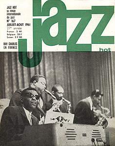 Jazz Hot n°167, juillet-août 1961, Ray Charles est annoncé à Antibes
