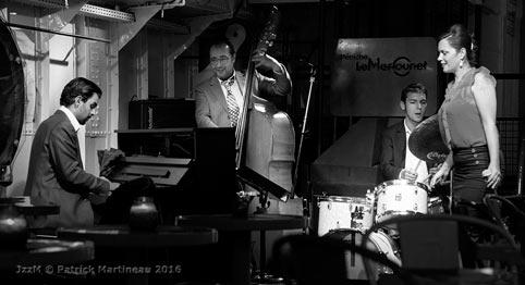 César Pastre, Brahim Haiouani, Lucio Tomasi, Marie-Laure Célisse, Le Marcounet, Paris, octobre 2016 © Patrick Martineau