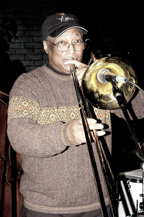 Curtis Fuller at Ronnie Scott's, 7 march 2005 © David Sinclair