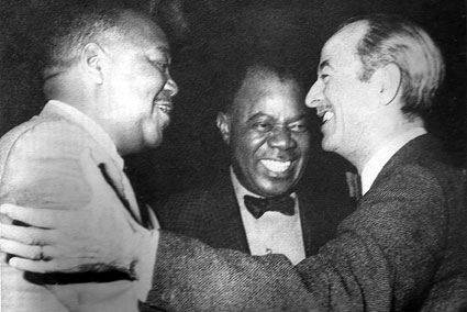Jonah Jones, Louis Armstrong et Bobby Hackett © photo X, collection Michel Laplace by courtesy