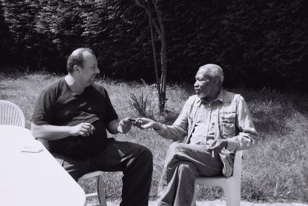 William Chabbey avec George Brown, en 1999 © Photo X, by courtesy of William Chabbey