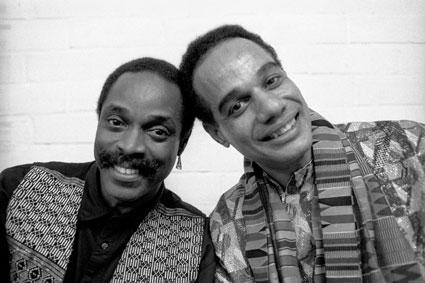 …avec Alex Blake (b), Talib Kibwe (as, fl), Palais des Beaux-Arts, Bruxelles, 1994 © Jacky Lepage