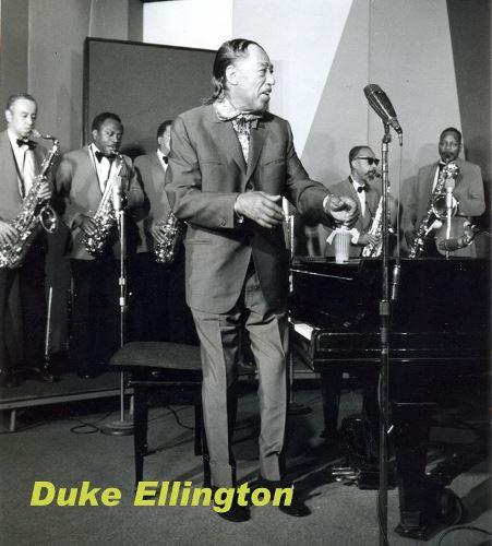 Duke Ellington sur le tournage de L'Aventure du jazz © Photo X, Archives Louis Panassié by courtesy