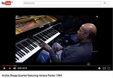Horace Parlan et Archie Shepp «Steam» sur YouTube