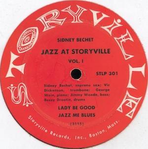 1953. Sidney Bechet, George Wein Presents Jazz at Storyville Vol.1, Storyville
