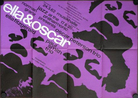 1962. Ella Fitzgerald et Oscar Peterson à l'affiche du JATP Tour de 1962, Ella & Oscar à Hambourg