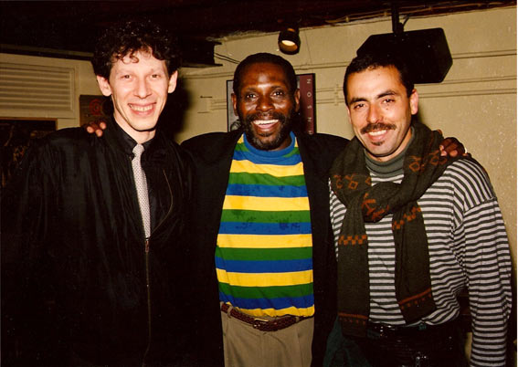 Philippe Soirat, George Cables, Carlos Barretto, Portugal, 1995 © photo X by courtesy of Philippe Soirat