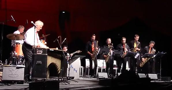 De gauche à droite: Didier Dorise (dm), Dany Doriz (vib), Jeff Hoffman (g), Geoffrey Secco, Philippe Chagne, Pascal Thouvenin, Matthieu Vernhes, Olivier Defaÿs © Chaîne YouTube de Dany Doriz