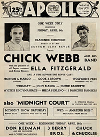 1936-37. Ella et Chick Webb à l'Apollo
