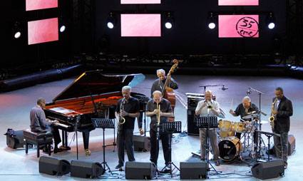 The Cookers: George Cables, Billy Harper, David Weiss, Cecil McBee, Eddie Henderson, Billy Hart, Donald Harrison, Jazz à Vienne 2015 © Pascal Kober