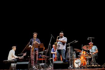 Louis Moholo 5 Blokes ©Gianfranco Rota by courtesy of Bergamo Jazz