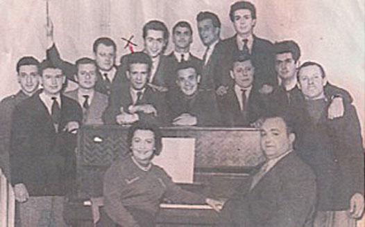 Roger Mennillo dans la classe du conservatoire au début des années 1950 © photo X, Collection Roger Mennillo by courtesy