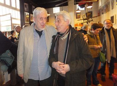 Clama avec Félix Sportis, lors des 80 ans de Jazz Hot à la Fond'Action Boris Vian © George Herpe