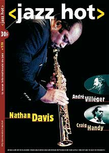 Nathan Davis, couverture de Jazz Hot n°578, mars 2001