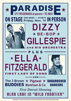 1947. Detroit, Dizzy Gillespie and His Orchestra plus Ella Fitzgerald