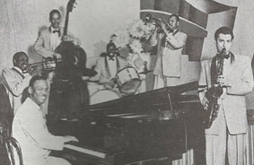 Earl Hines Sextet, Snookie's Cafe, New York, 1952 © photo X, Collection Michel Laplace by courtesy
