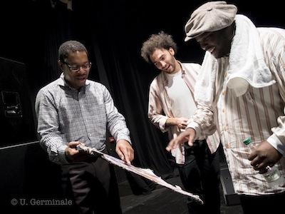 Johnathan Blake avec Ravi Coltrane et David Virelles © Umberto Germinale