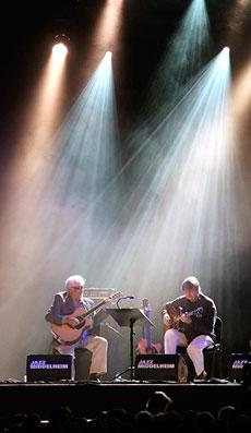 Larry Coryell et Philip Catherine, Festival Jazz Middelheim d'Anvers, 16 août 2012 © Pascal Kober