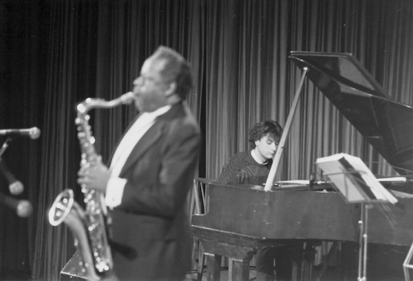 Roberto Magris avec Eddie Lockjaw Davis, Trieste, Italie,1984 © Photo X, Collection Roberto Magris by courtesy