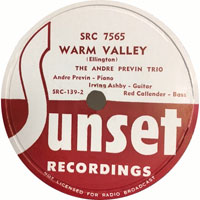 1946. André Previn Trio, Warm-Valley, Sunset