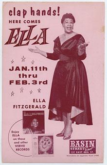 1959-61. Ella Fitzgerald au Basin Street, New York