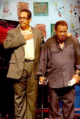 Danilo Perez et Wayne Shorter au Panama Jazz Festival 2013 © Patrick Dalmace