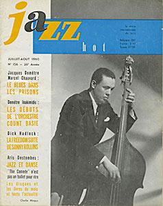Jazz Hot n°156, juillet-août 1960, Charles Mingus en couverture est annoncé au festival