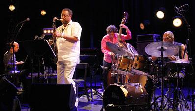 Antonio Faraó, Chico Freeman, Heiri Känzig, Billy Hart, Jazz à Vienne 2015 ©Pascal Kober