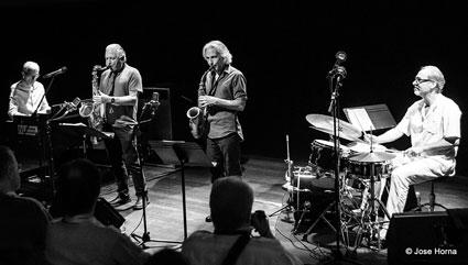 Renato Chicco, Perico Sambeat, Jerry Bergonzi, Andrea Michelutti © Jose Horna