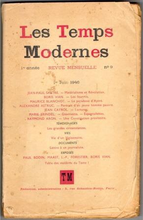 Les Temps Modernes, numéro du 1er juin 1946