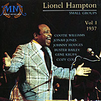 Lionel Hampton Small Groups Vol. 1 1937 (Cootie Williams, Jonah Jones, Johnny Hodges, Buster Bailey, Gene Krupa, Cozy Cole),  Music Memoria 30354