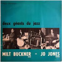 1971. Milt Buckner/Jo Jones, Deux géants du jazz