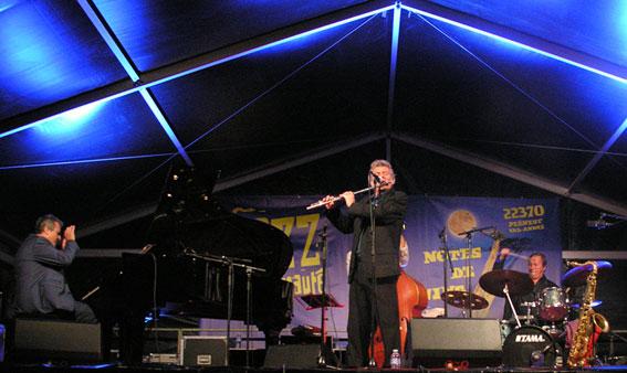 Festival Jazz à l'Amirauté 2019, le trio Philippe Duchemin invite Carl Schlosser © Yves Sportis
