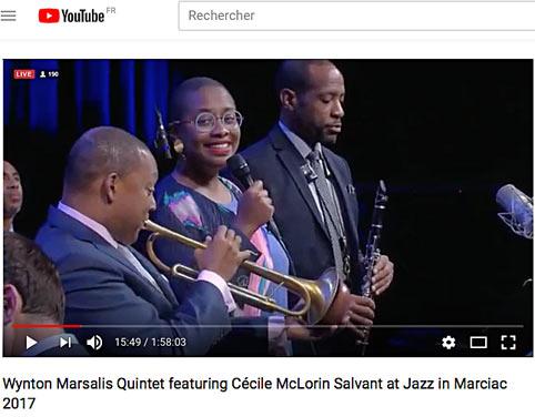 Jazz in Marciac 2017, Cécile McLorin Salvant et Wynton Marsalis Quintet, concert des 40 ans de Marciac © YouTube