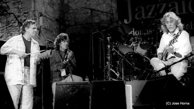 Chick Corea, Jorge Pardo et Carles Benavent, Jazzaldia San Sebastian 2002 © Jose Horna