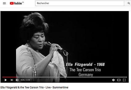 1968.Ella Fitzgerald @ Tee Carson Trio, Berlin, Summertime