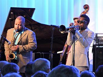 Justin Robinson et Roy Hargrove, Ystad Jazz Fest 2014 © Jérôme Partage