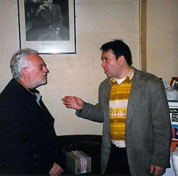 Gilles Naturel avec Lee Konitz, en 2002 © Photo X, coll. Gilles Naturel by courtesy