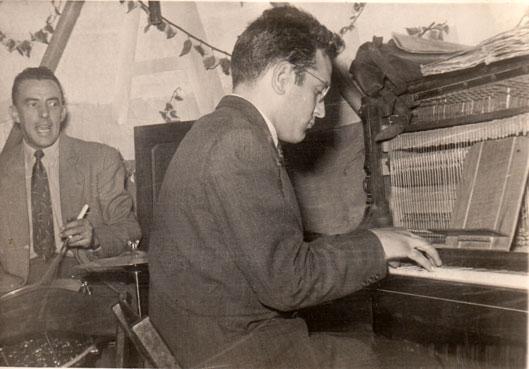 Roger Mennillo, pianiste de jazz, c. 1960 © photo X, Collection Roger Mennillo by courtesy