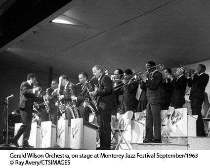 Gerald Wilson Orchestra, on stage at Monterey Jazz Festival September/1963 ©Ray Avery/CTSIMAGES